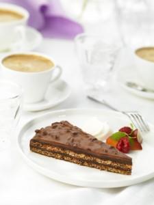 Almondy Cadbury cake - slice