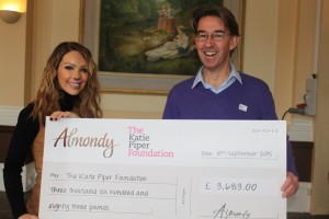 Katie Piper & Andrew Ely, Almondy, Cheque Presentation_m