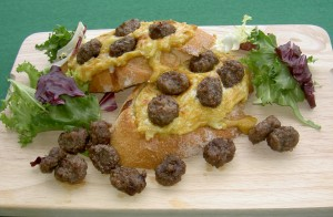 Snowbird Mini Meat BItes Welsh Rarebit
