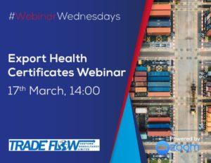 Export Health Certificate Webinar Wednesday